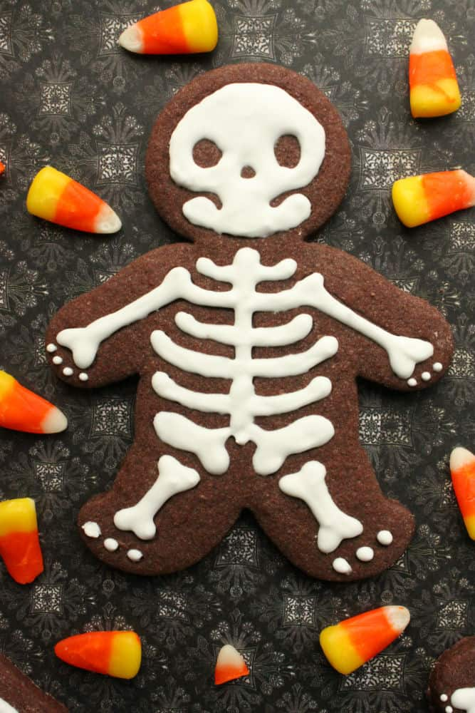 Chocolate skeleton cookie