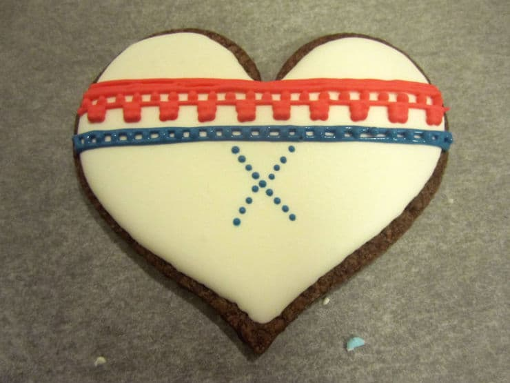 Norwegian knit cookies
