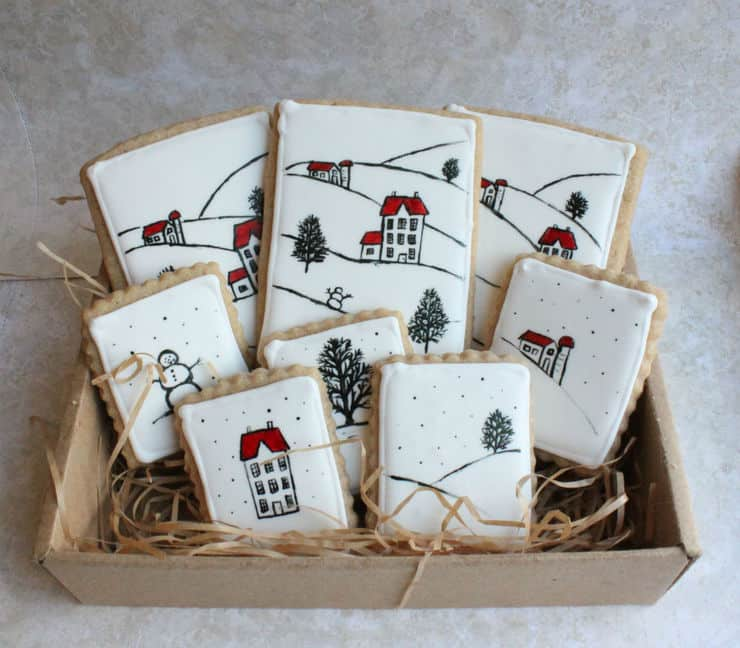 Christmas card cookies
