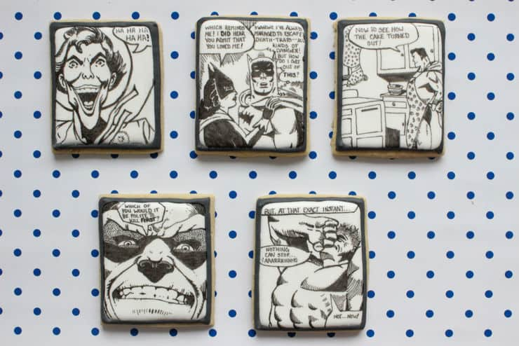comic book cookies