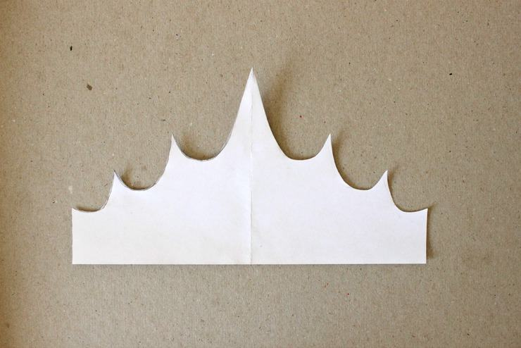 fondant crown template