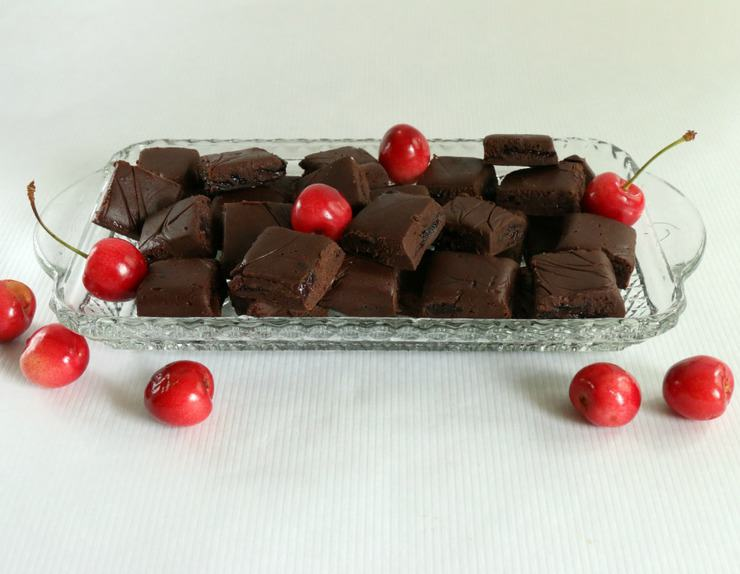 Homemade chocolate cherry fudge