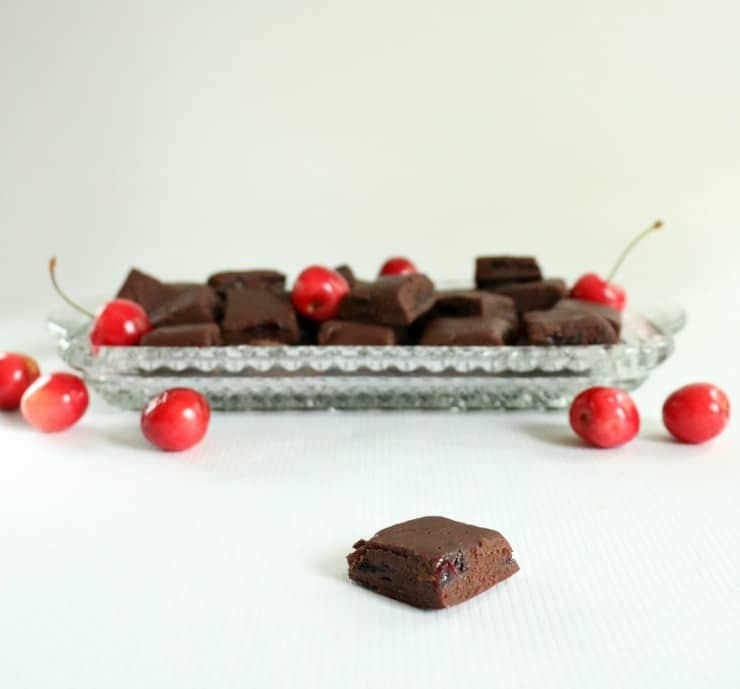 fresh chocolate cherry fudge