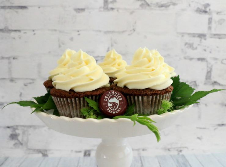 chocolate stout cupcakes with cream cheese frosting