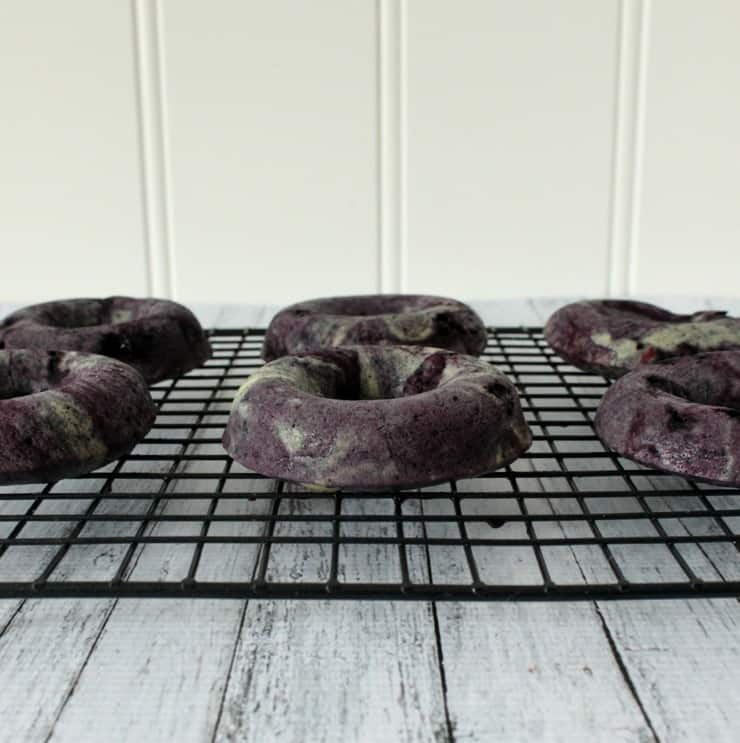 baked blueberry doughnuts