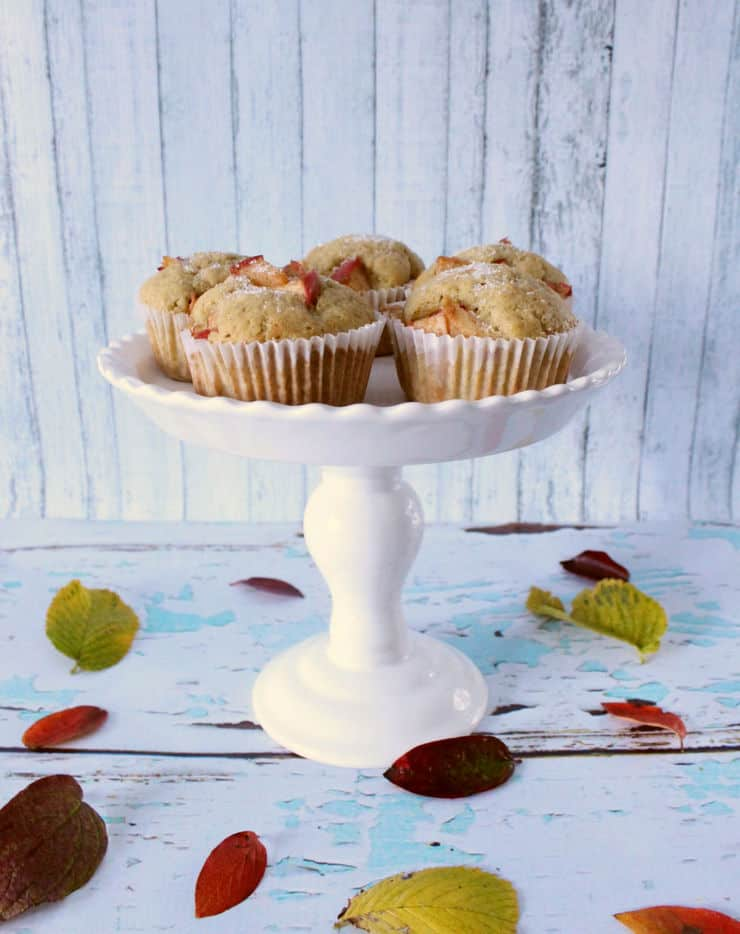 Jump into fall with these deliciously easy vanilla bean apple muffins from The Simple, Sweet Life!