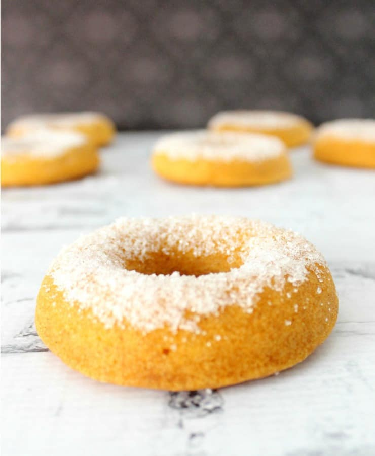 These baked sweet potato doughnuts make a perfect fall breakfast!