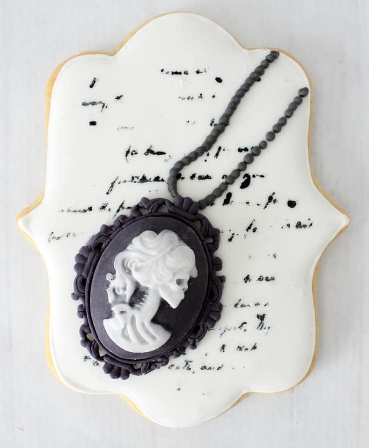 cameo skeleton cookie
