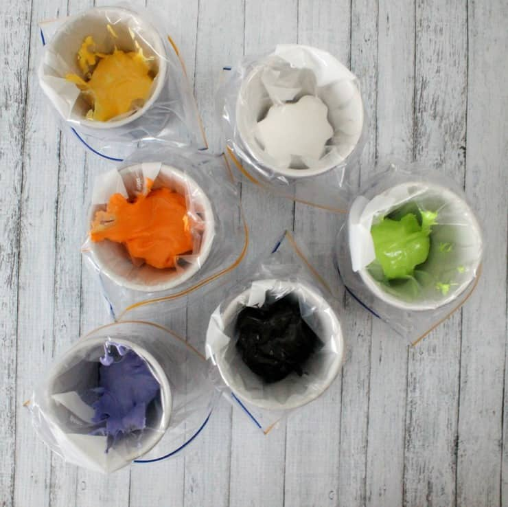 colored royal icing