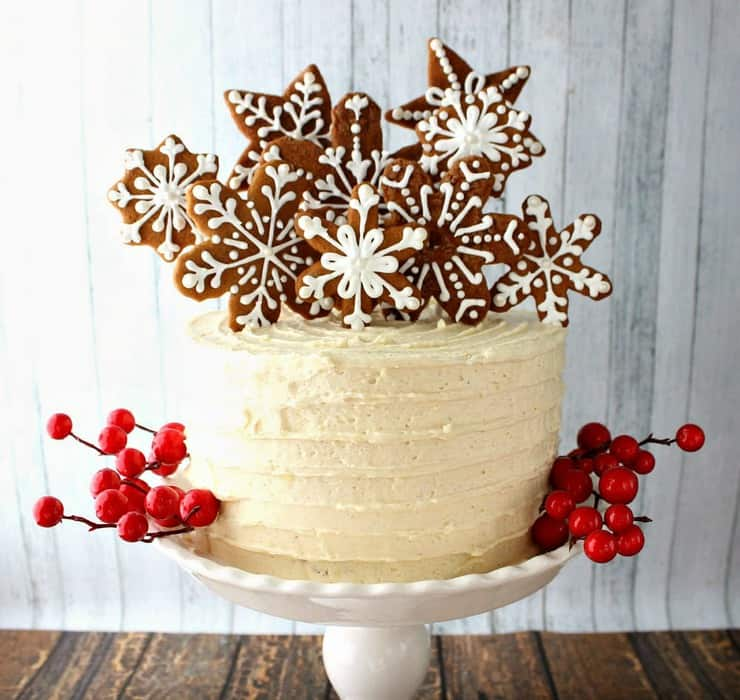 This gingerbread cake with its boozy coffee frosting is the perfect addition to your holiday get-togethers!