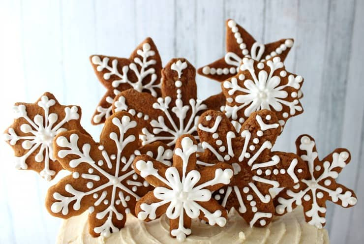 gingerbread cookie garnish