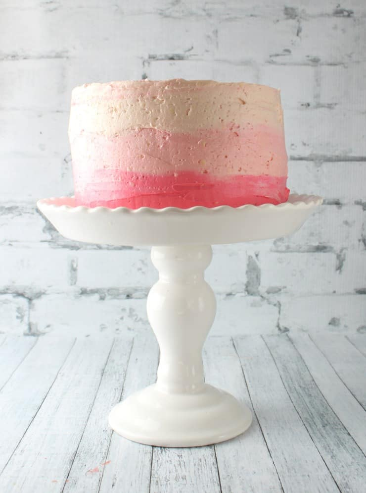 ombre frosted cake