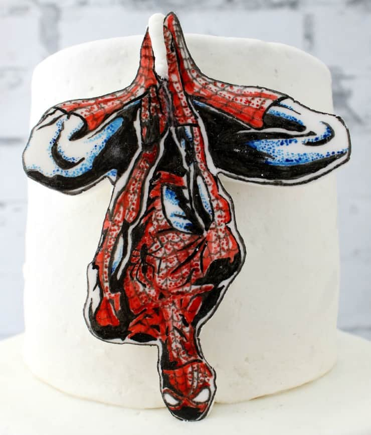 Spider man cake topper