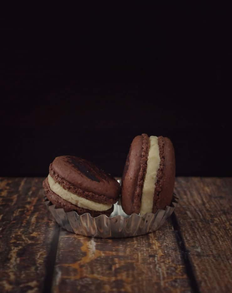 These chocolate Guinness macarons are perfect for the beer (or chocolate) lover in your life!