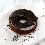 Chocolate Cookies and Cream Doughnuts