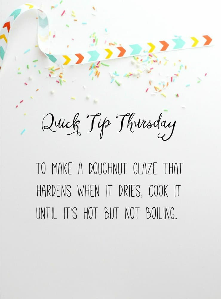 This week's Quick Tip Thursday teaches you how to glaze the perfect doughnut!