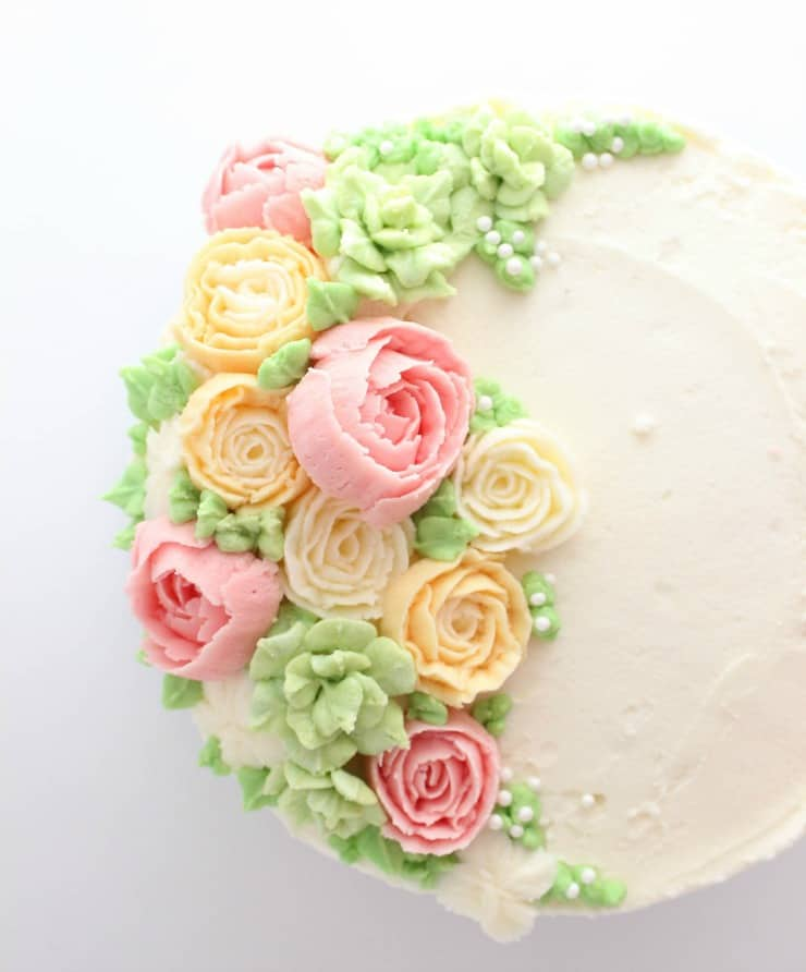 Buttercream Flower Cake - The Simple, Sweet Life