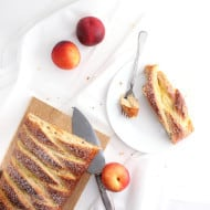 Nectarines and Cream Breakfast Loaf