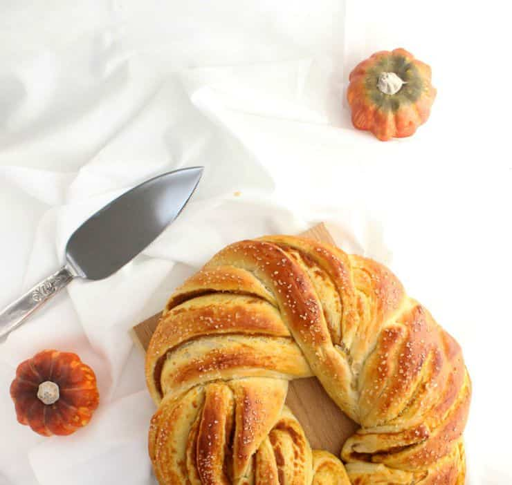 This braided pumpkin bread makes the perfect Fall morning breakfast! Make it this weekend and enjoy it all week long! | The Simple, Sweet Life