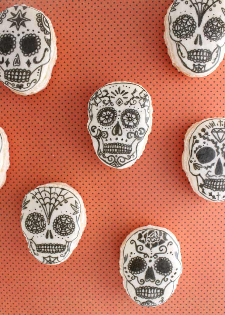 Celebrate Day of the Dead with these festive macarons! | The Simple, Sweet Life