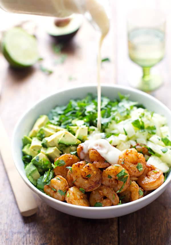 Shrimp and Avocado Salad by Lindsay of Pinch of Yum