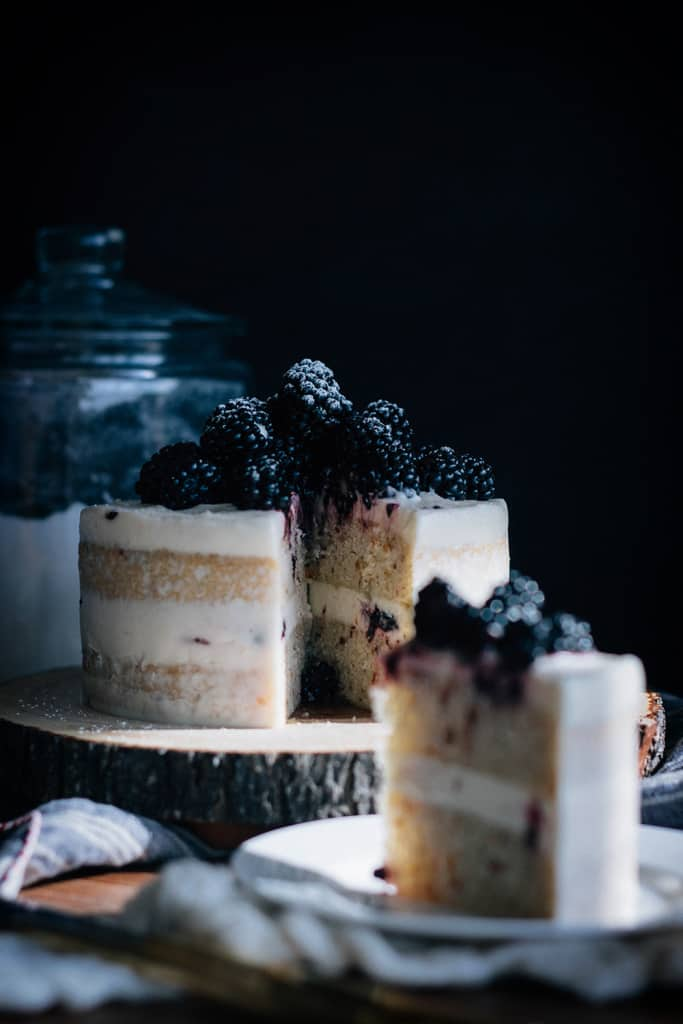 Blackberry Hazelnut Cake by Courtney of Fork to Belly