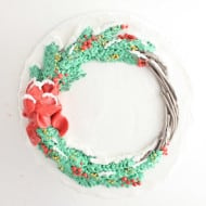 Happy Holidays Wreath Cake