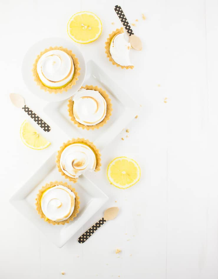 Rain or shine, these delicate lemon ginger meringue tartlets are sure to brighten your day! | The Simple, Sweet Life