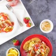 Coconut Pineapple Strawberry French Toast