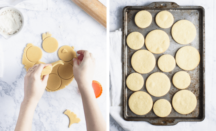 Step-by-step photos for making sugar cookies
