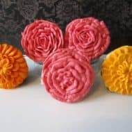 Marigold and Rose Cupcakes