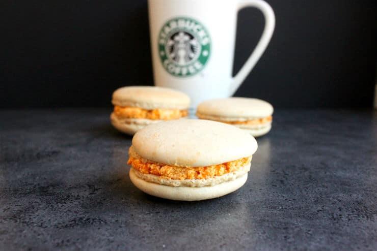 Starbucks pumpkin spice latte macarons