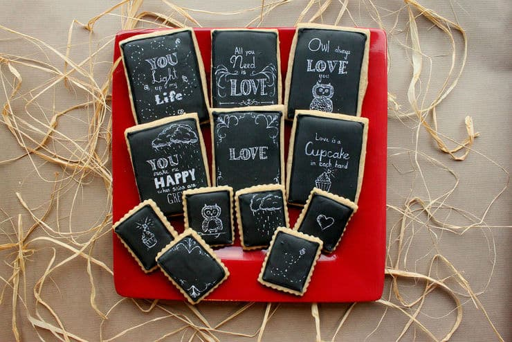 chalkboard art love cookie