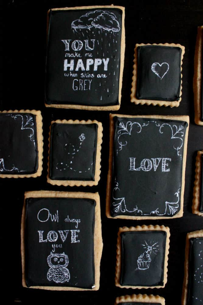 chalkboard art cookie