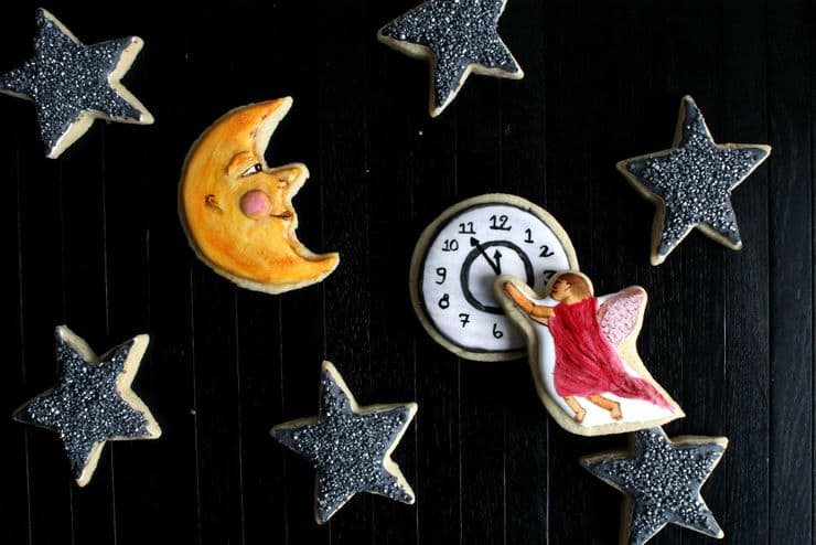Victorian new year cookies