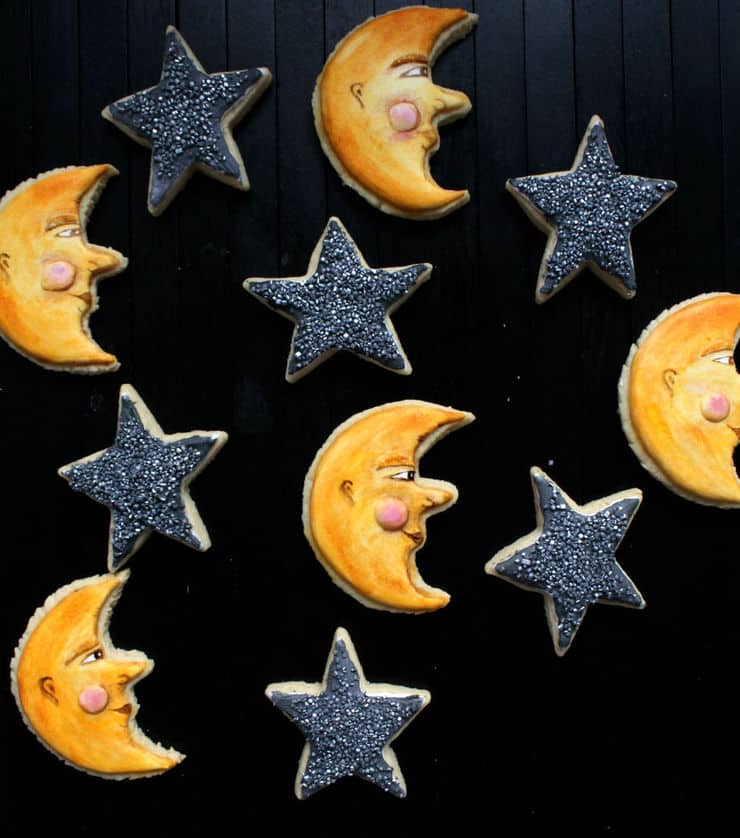 star and moon cookies