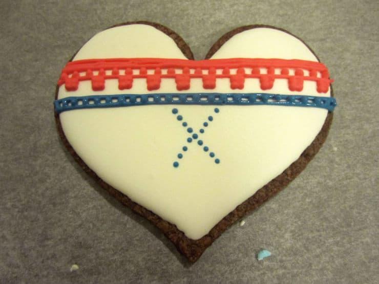 Norwegian knit cookies