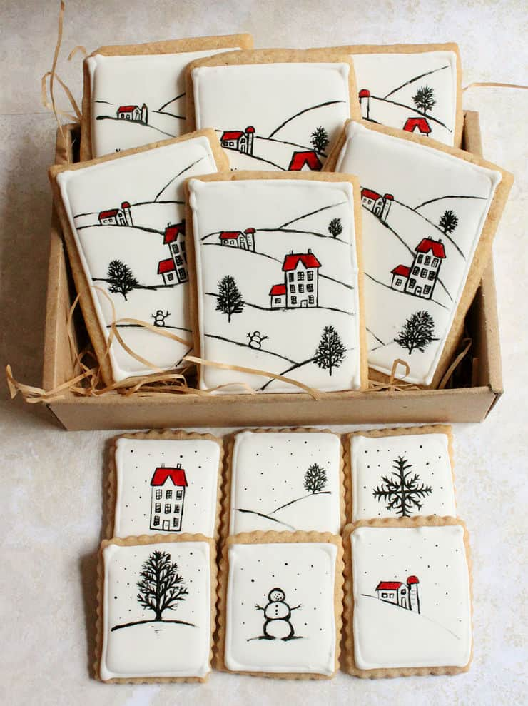 simple winter cookies for Christmas