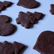 Dark Chocolate Peppermint Cutouts