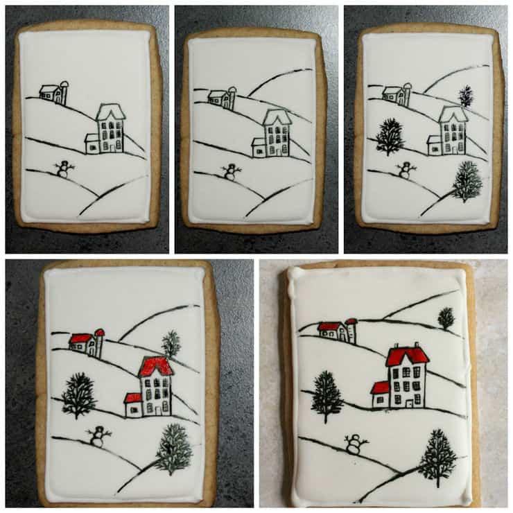 painting sugar cookies