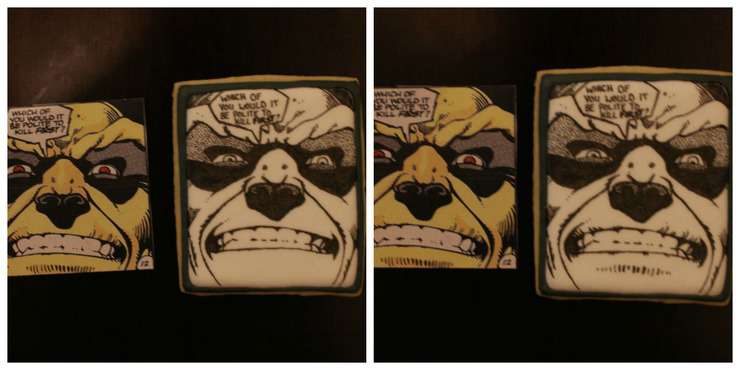making comic cookie transfers