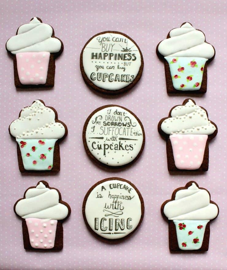 cupcake word art cookie tutorial