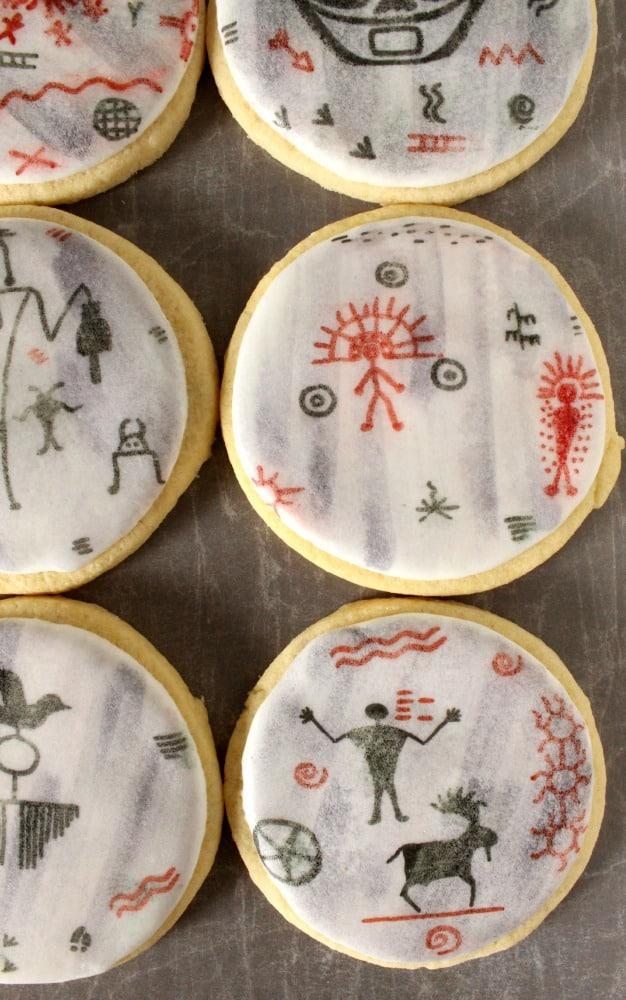 cave painting cookies