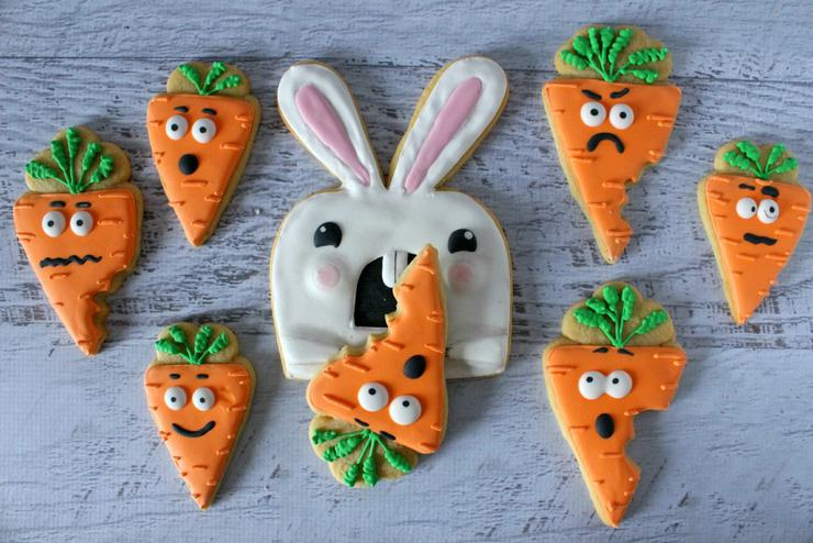 anime easter bunny cookies