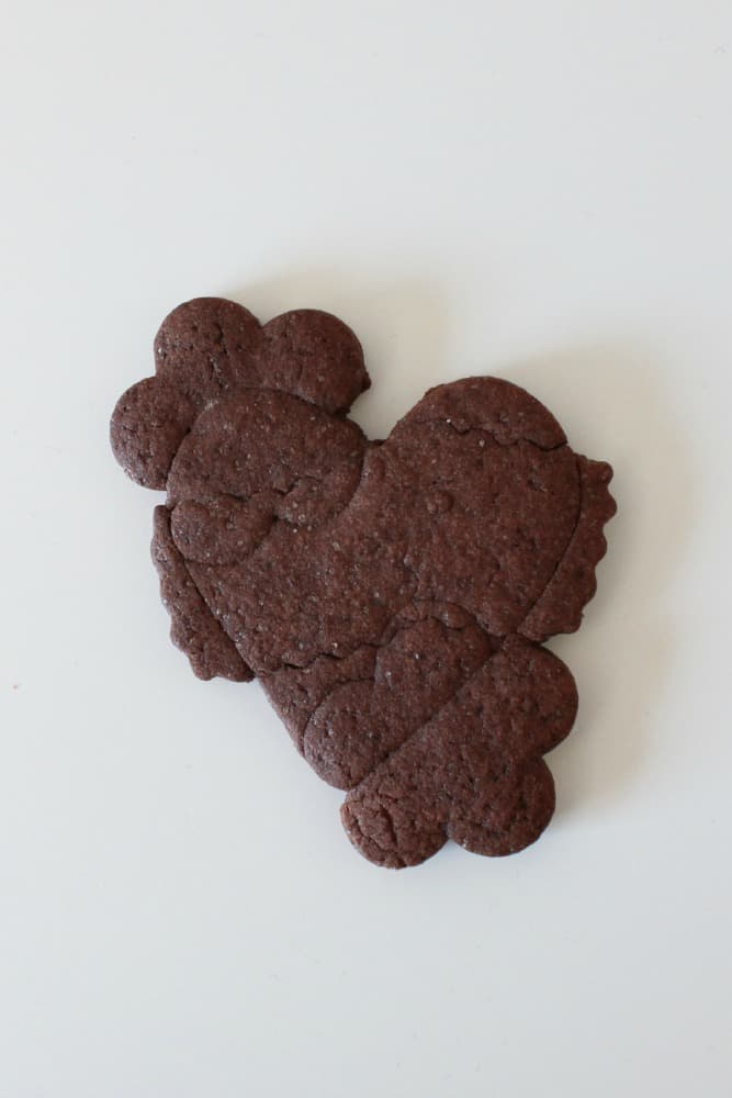 heart tattoo cookie cutout