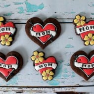 I Heart Mom Tattoo Cookies