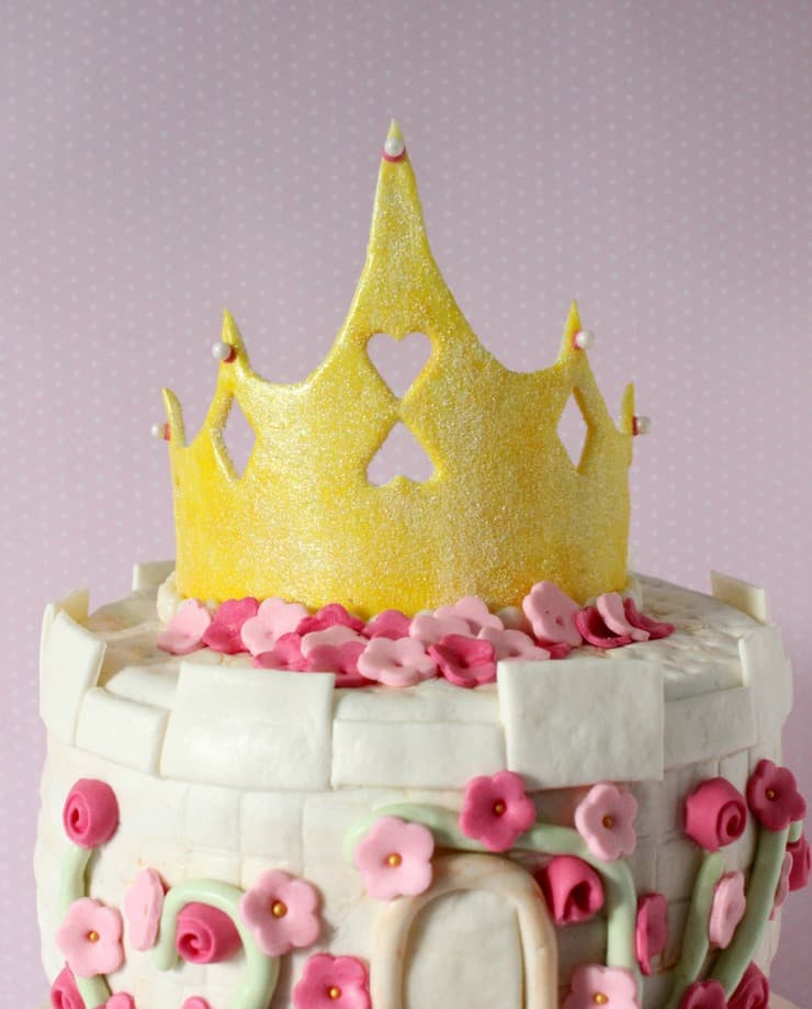fondant princess cake topper