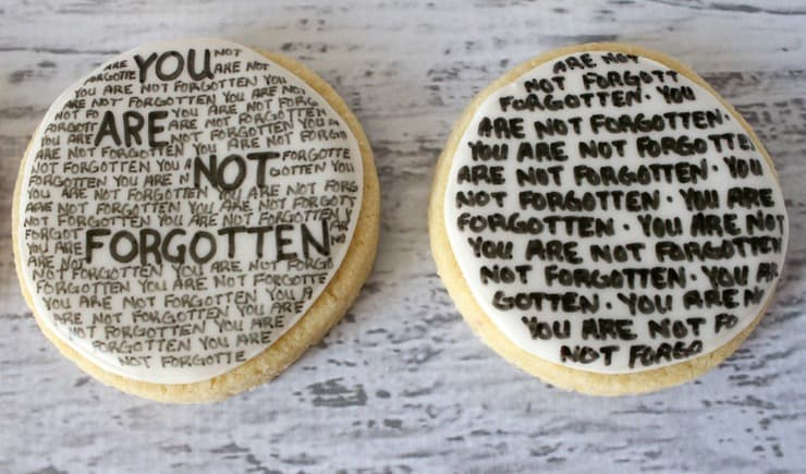 you are not forgotten MIA cookies