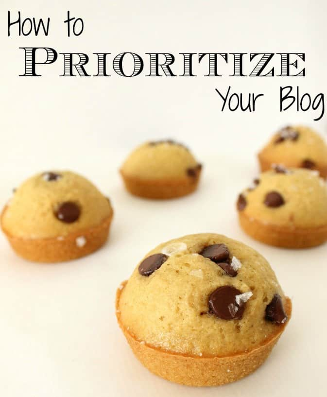 How to prioritize your blog