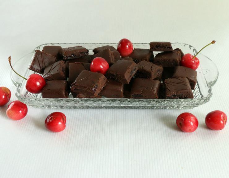 Homemade chocolate cherry fudge